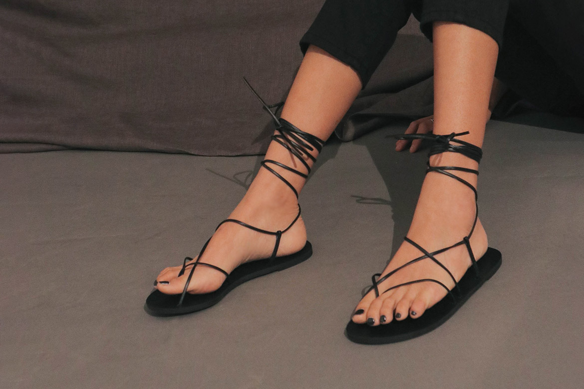 strappy hill lace up sandal