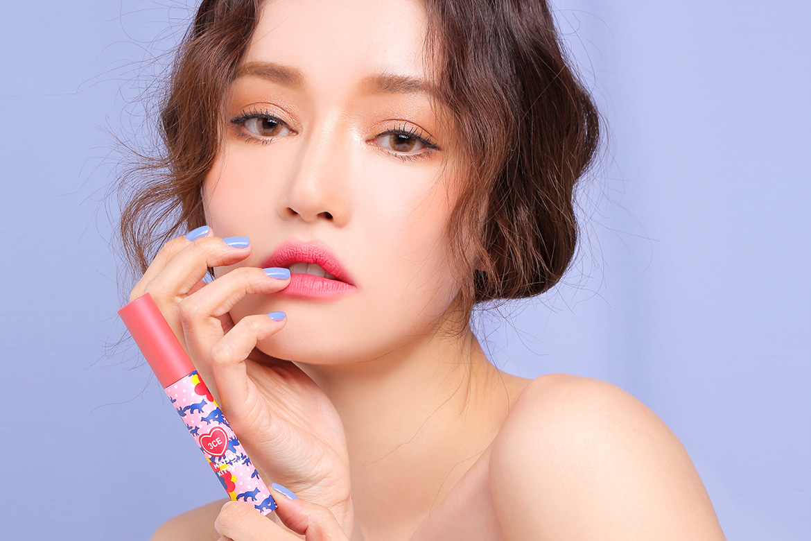 3CE MAISON KITSUNE VELVET LIP TINT #STRAWBERRY DELIGHT