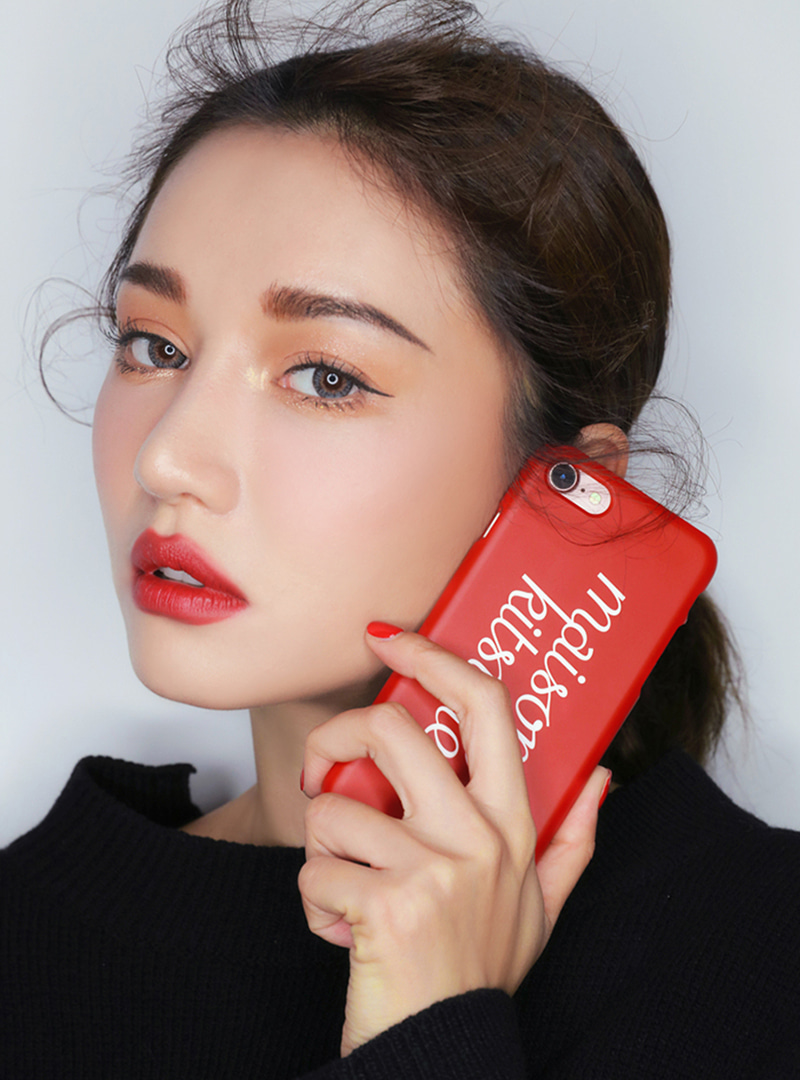 3CE MAISON KITSUNE PHONE CASE #RED